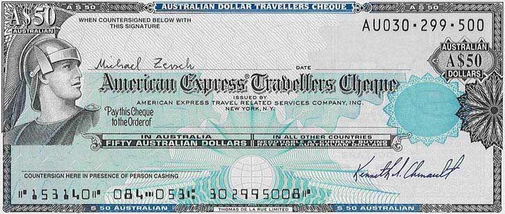 cheque de american express